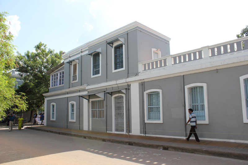 Главное здание Ашрама в Пудучерри
