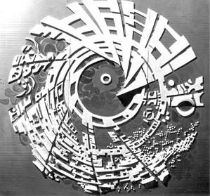 История Ауровиля: Предварительная модель «Галактики», начало 1967г.