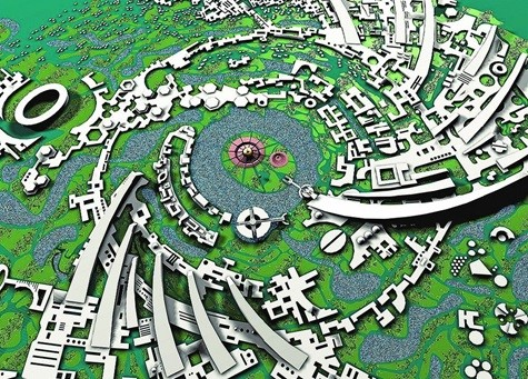 История Ауровиля: Окончательный городской план «Галактика, 1971г.
