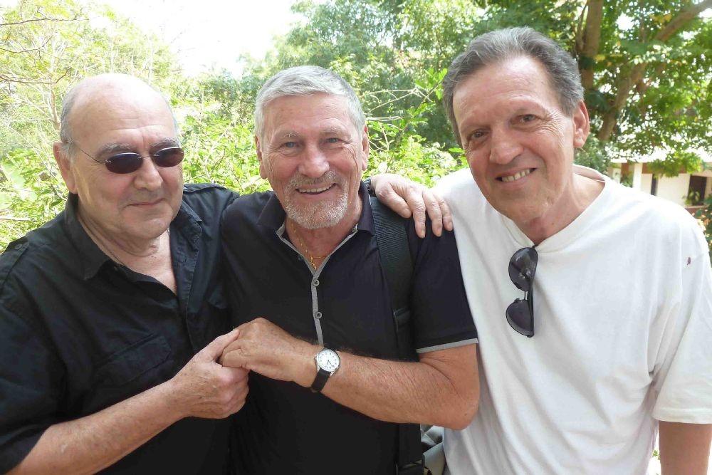 Три ауровильца первого каравана: Жерар Марешаль, Джанака и Франсуа Готье.